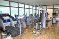 Gym workout equipment Royalty Free Stock Photo