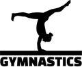 Gymnast at balance beam Royalty Free Stock Photo