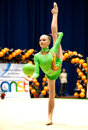 Gymnast performs at Irina Deleanu Orange Trophy Stock Photos