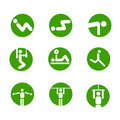 Gymnastic exercises  symbols Stock Images