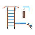 Gymnastic ladder vector illustration.