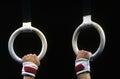 Gymnastic Rings Royalty Free Stock Photo
