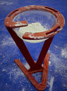 Gymnastic stand with talc Stock Image
