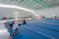 Gymnastics boys instructors strengthening pinetown outside durban south africa is one of the best facilitated gyms in south africa Royalty Free Stock Photography