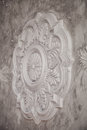 Gypsum tracery art texture with handmade details Royalty Free Stock Photo