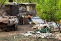 Gypsy unhygienic settlement in Belgrade Royalty Free Stock Photo
