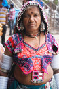 Gypsy woman from india lambada nomad tribe south Stock Image