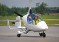 Gyroplane de calidus sur waterloo airshow ontario canada Photo stock