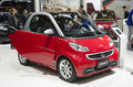 Gz autoshow smart a red in the th china guangzhou international automobile exhibition in china import and export fair complex Stock Photography