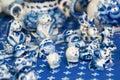 Gzhel Cat Royalty Free Stock Photo