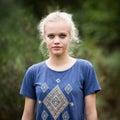 Härliga angel white teenage girl Royaltyfria Bilder