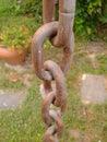 Härligt chain dimensionellt diagram illustrationmetall tre mycket Arkivfoto