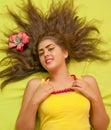 Hårmodell Royaltyfria Bilder