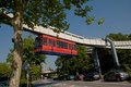 The h bahn in dortmund monorail technical university of Stock Photo