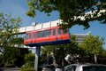 The h bahn in dortmund monorail technical university of Stock Image