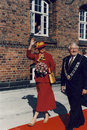 H.M.THE QUEEN MARGRETHE AND PRINCE HENRIK VISISTS Royalty Free Stock Photo