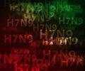 H7N9 avian flu background Royalty Free Stock Photo