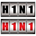 H1n1 dial Royalty Free Stock Image
