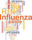 H1N1 Influenza background concept Stock Photo