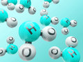H20 molecules Royalty Free Stock Photo