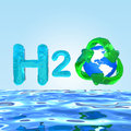 H2O Formula on water Eco Concept Stock Image