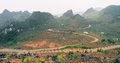 Ha giang the mountainous region in vietnam landscape of as is a population is not large Royalty Free Stock Photography