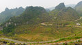 Ha giang the mountainous region in vietnam landscape of as is a population is not large Stock Image