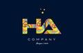ha h a colorful alphabet letter logo icon template vector