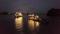 Ha Long Bay by night Royalty Free Stock Photo