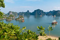Ha long bay vietnam is a unesco world heritage site and a popular travel destination Royalty Free Stock Image