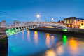 The ha'penny bridge in Dublin Royalty Free Stock Photo