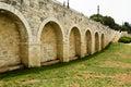 The haas promenade archs in walkway Royalty Free Stock Photos