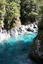 Haast River, Blue pond, New Zealand South Island Royalty Free Stock Photo