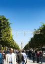 Habib Bourguiba Street, Tunis Stock Photos