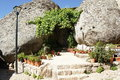 Habitation with boulder in monsanto portugal the most portuguese village of Stock Image