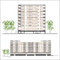 Habitation building facade illustration Stock Image