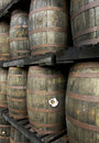 Habitation clement in martinique france old rum barrels the park Stock Photos