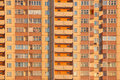 Habitation orange block Stock Image