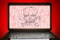 Hacked black laptop Royalty Free Stock Photo