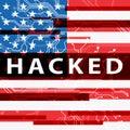 Hacked Electronics Circuit Showing Data Hacking 3d Illustration