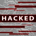 Hacked Electronics Circuit Shows Data Hacking 3d Illustration