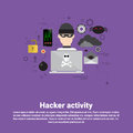 Hacker Activity Data Protection Privacy Internet Information Security Web Banner