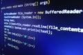 Hacker data theft. Computer virus. Royalty Free Stock Photo