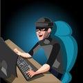 Hacker internet computer security technology.