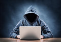 Hacker picture of a on a computer Stock Images