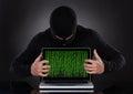 Hacker Stealing Data Of A Lapt...