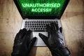 Hacker Stealing Data From A La...