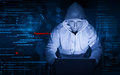 Hacker at work Royalty Free Stock Photo