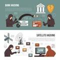 Hackers Activity Methods 2 Flat Banners