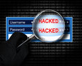 Hacking username and password on the computer Royalty Free Stock Photo